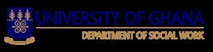 Logo of the University of Ghana  - Department of Social Work